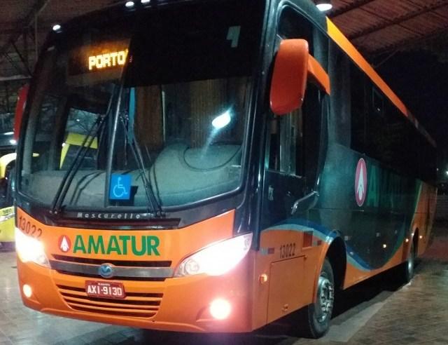 AM: Ônibus da Amatur tomba na madrugada desta quarta-feira na Transamazônica BR-230