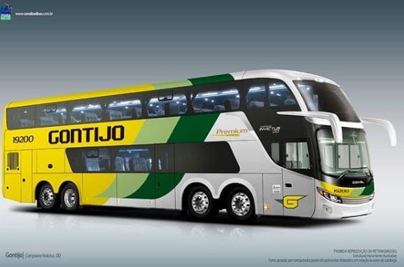 Gontijo confirma em rede social renovação com ônibus Comil Invictus DD Scania 8×2