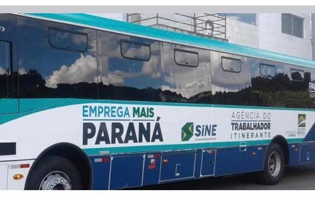 Ônibus do Emprega Mais Paraná estará em Cascavel nos dias 4 e 5 de fevereiro
