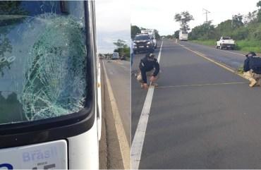 Ônibus da Trans Brasil atropela idosa na BR-135 no interior do Piauí