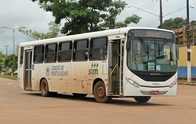 Porto Velho: Ônibus deverão transportar apenas passageiros sentados
