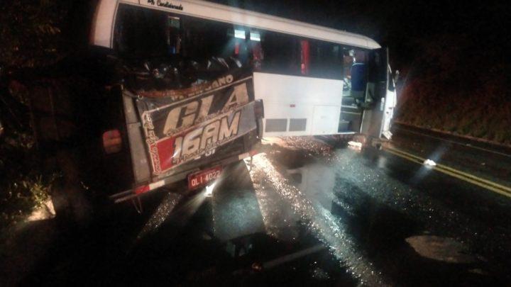 Acidente com micro-ônibus deixa 2 feridos na BR-251