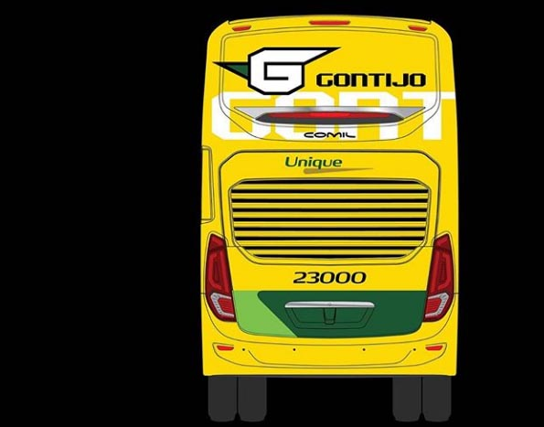 Novos ônibus DD da Gontijo serão amarelos
