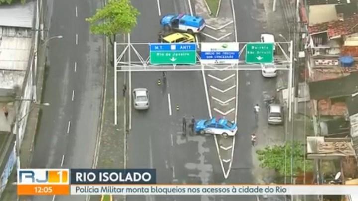Acessos à Ponte Rio x Niterói segue com bloqueios por conta do coronavírus