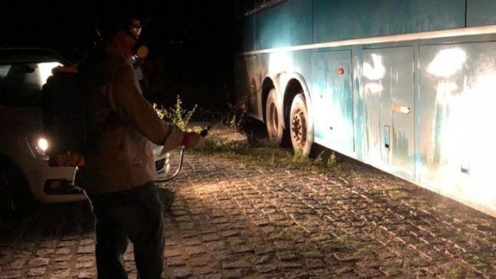 Barreira sanitária fiscaliza ônibus no Sertão Paraibano