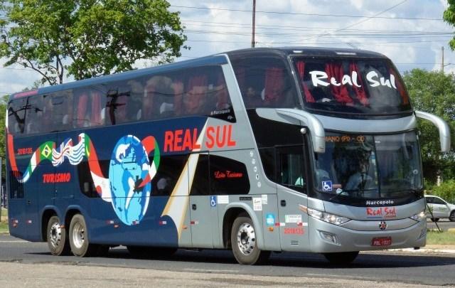 Ônibus da Real Sul Turismo e duas vans são apreendidos no interior da Bahia