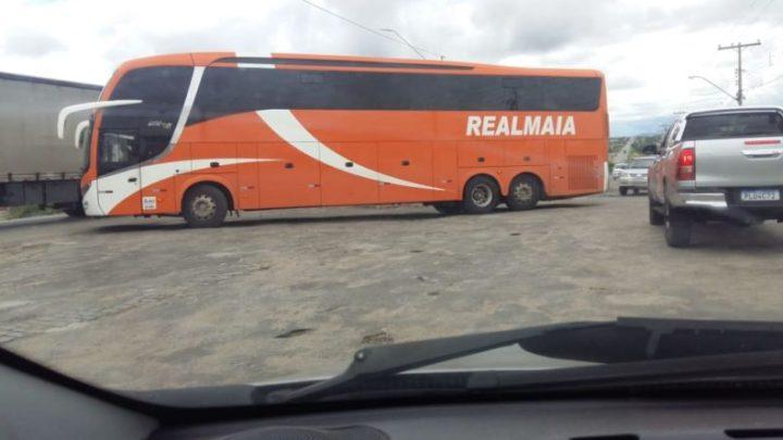 BA: Ônibus da Real Maia é apreendido pela PRF no Sul da Bahia