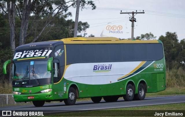 Vídeo: Ônibus a serviço da Trans Brasil pega fogo na BR-135 no Sul do Piauí