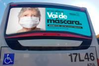 PR: Campanha vai incentivar uso de máscaras nos ônibus