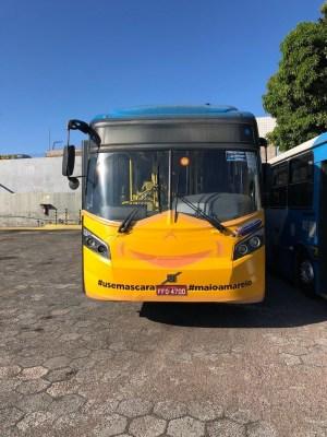 Coronavírus: Ônibus de Campinas surgem com máscaras para conscientizar moradores
