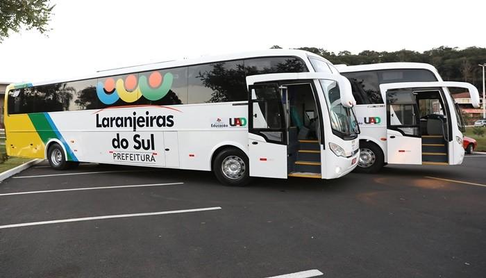 PR: Prefeitura de Laranjeira do Sul adquire dois novos ônibus