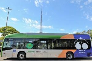Brasília: Ônibus elétricos começam a circular nesta segunda-feira