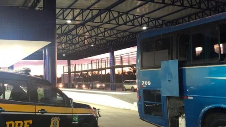Vídeo: PRF apreende entorpecentes em abordagem a ônibus na BR-116
