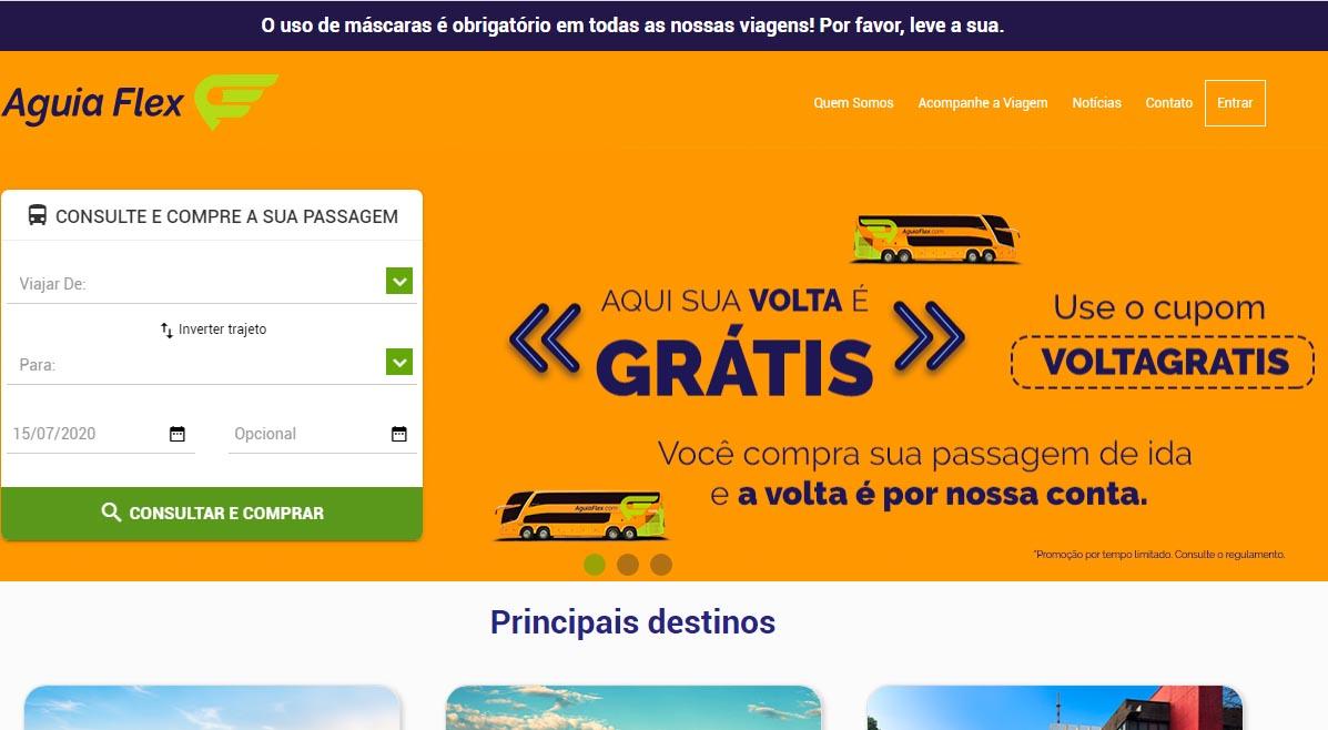 Águia Flex oferece passagem de volta gratuitamente