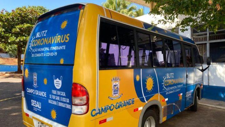 Campo Grande realiza Blitz do Coronavírus nos pontos de ônibus e locais de grande circulação de pessoas