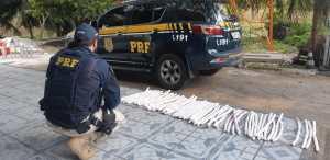 CE: PRF apreende mais de 20 quilos de explosivos em ônibus na BR-116