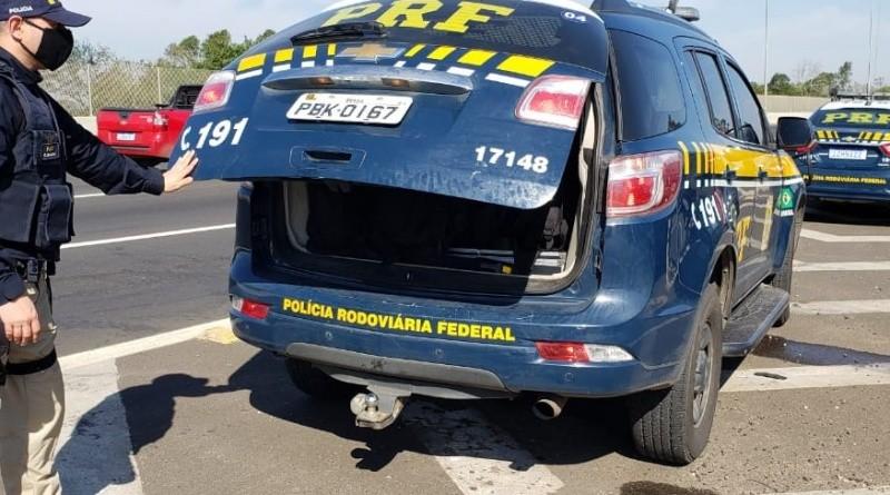 PI: PRF e Polícia Militar prendem na BR-343 passageiro de ônibus acusado de Desacato