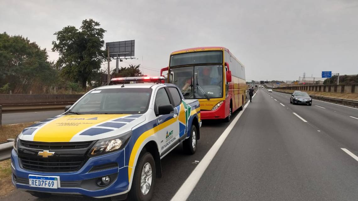 Campinas: ANTT apreende 4 ônibus clandestinos na Rodovia Anhanguera neste domingo