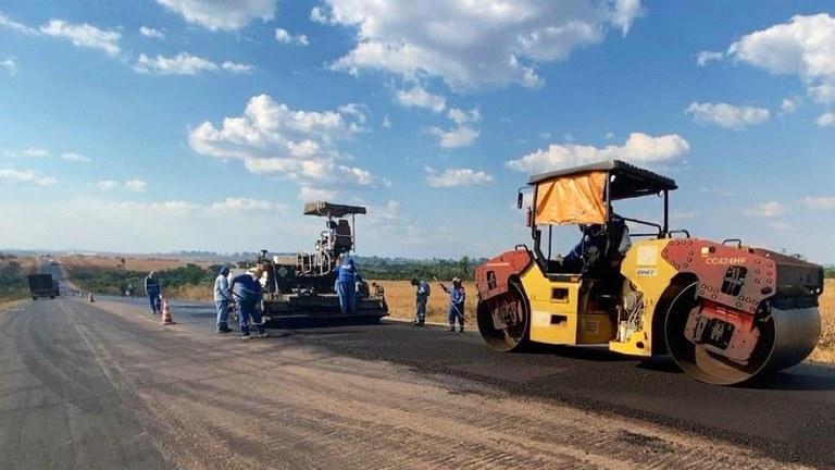 PA: DNIT segue com as obras de manutenção rodoviária na BR-163