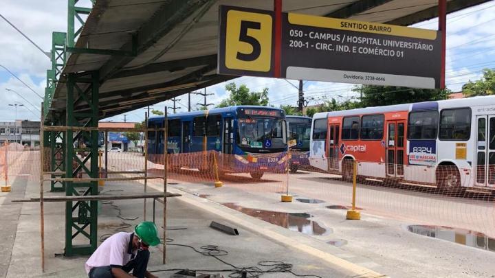 Aracaju: Terminal da Maracaju passa por obras de melhorias