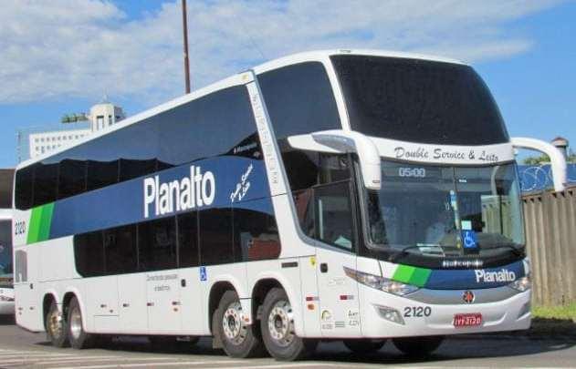 RS: Acidente com ônibus da Planalto chama atenção em Alegrete