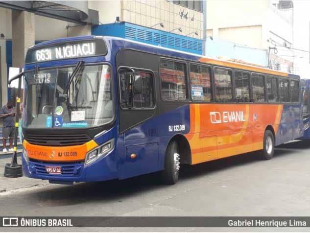 Nova Iguaçu: Evanil começa mudar a identidade visual de seus ônibus