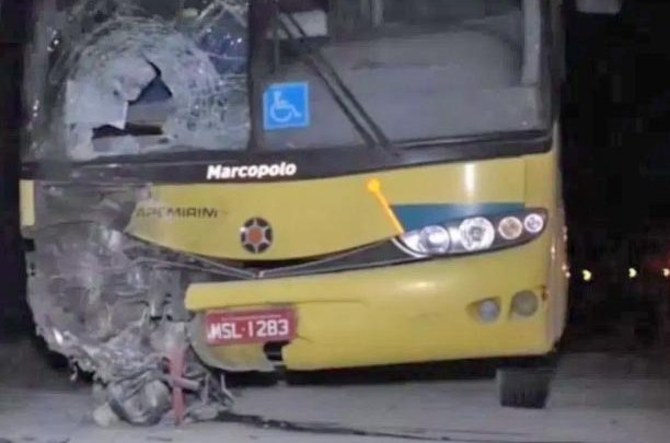 MG: Colisão entre moto e ônibus da Viação Itapemirim deixa um morto na BR-116