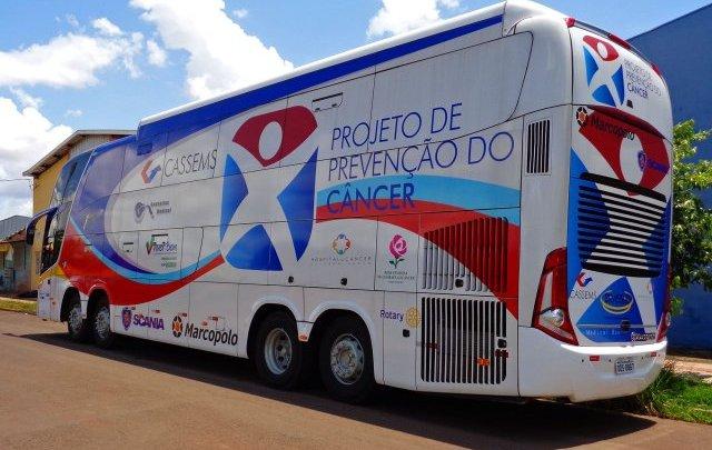 MS: Ônibus da Saúde da Cassems completa 9 anos levando exames preventivos ao câncer para todo o estado