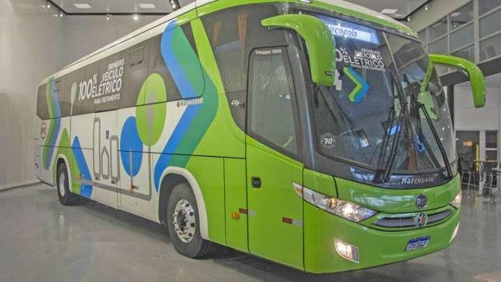 Marcopolo Viaggio 1050 BYD 100% elétrico inova o transporte gaúcho