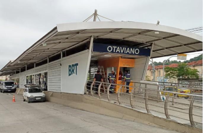 BRT Rio recupera a estação Otaviano no corredor Transcarioca que volta operar normalmente