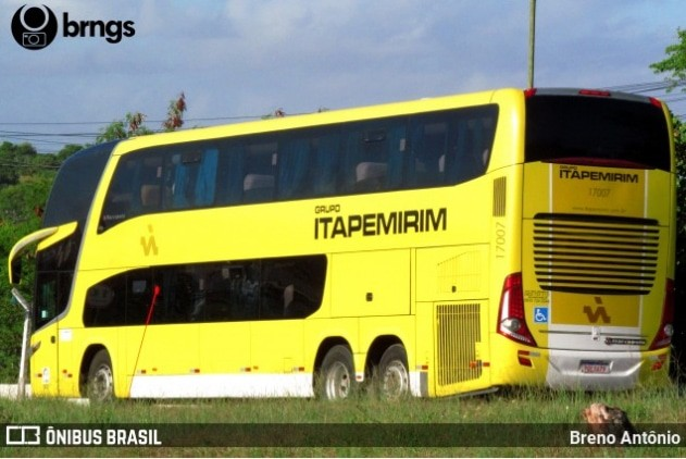 Viação Itapemirim chama atenção ao escalar ônibus DD na linha Rio x Aracaju x Rio