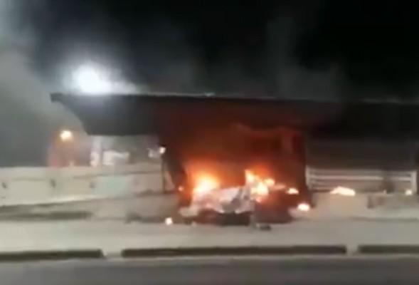 Vídeo: Incêndio acaba destruindo a estação estação Marambaia do BRT Rio
