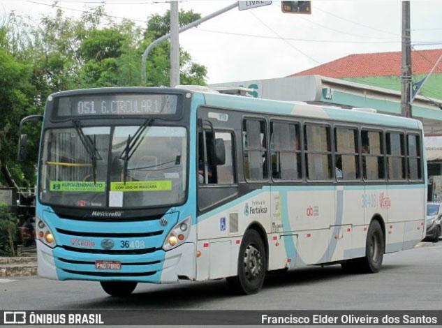 Fortaleza: Rodoviários da Viação Santa Cecília realizaram uma paralisação nesta manhã