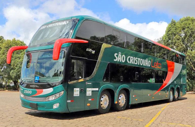 Empresa São Cristóvão incorpora novo ônibus Comil DD Scania 8×2 de 15 metros