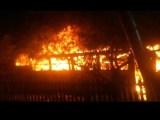 PR: Ônibus é incendiado na na Vila Nova em Cantagalo