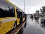 Brasília: Acidente envolvendo o BRT e quatro carros na Estrada Parque Aeroporto deixa um ferido grave