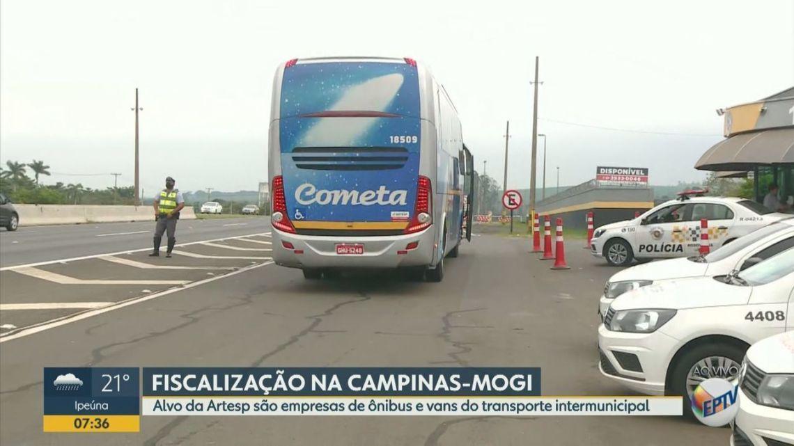 SP: Artesp realiza fiscalização em ônibus nesta sexta-feira em Campinas