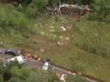 MG: Ônibus cai em ribanceira deixando 2 mortos e 23 feridos em Ouro Preto