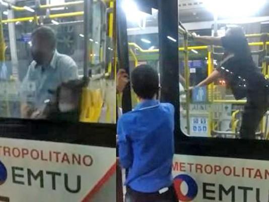 SP: Motorista e passageira se envolve em agressão em ônibus da EMTU em Osasco