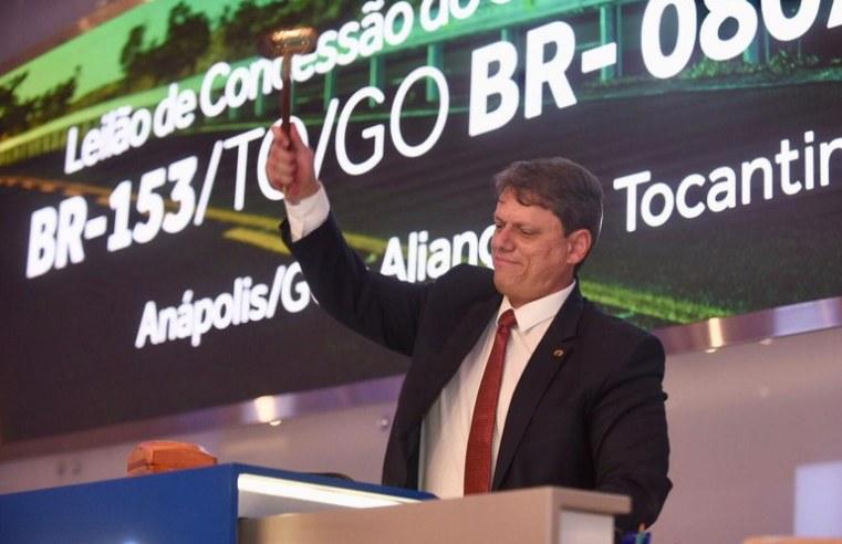 Consórcio Eco 153 vence leilão da BR-153/080/414/TO/GO