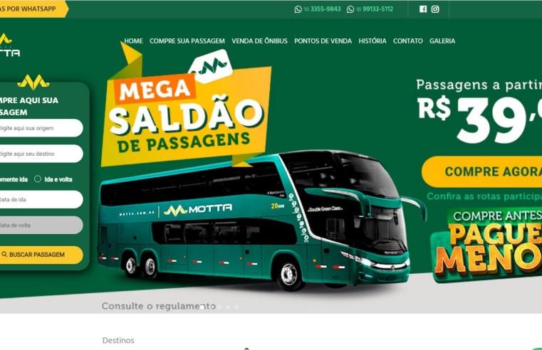 Viação Motta aposta em Mega Saldão de passagens. Veja como garantir a tarifa promocional