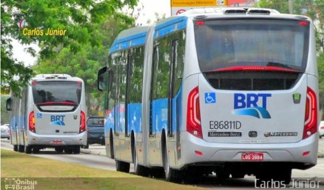 Ciclista é atingido por ônibus do Consórcio BRT Rio na Zona Oeste