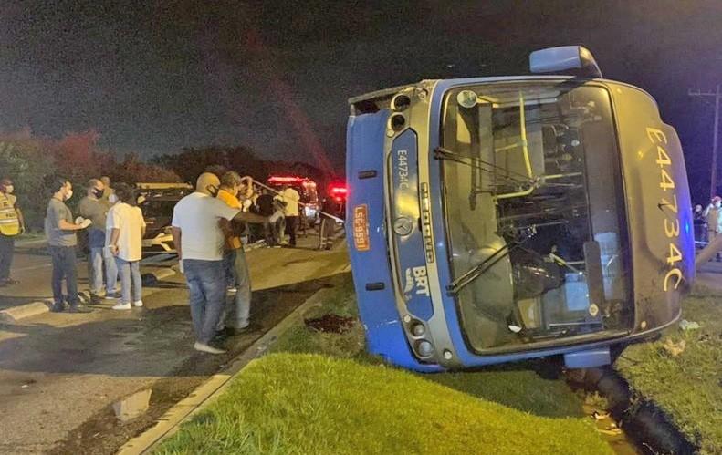 MPRJ denuncia e pede prisão preventiva de motorista que causou acidente com ônibus do BRT