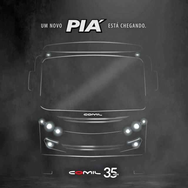 Comil anuncia o lançamento do novo micro-ônibus Piá - revistadoonibus