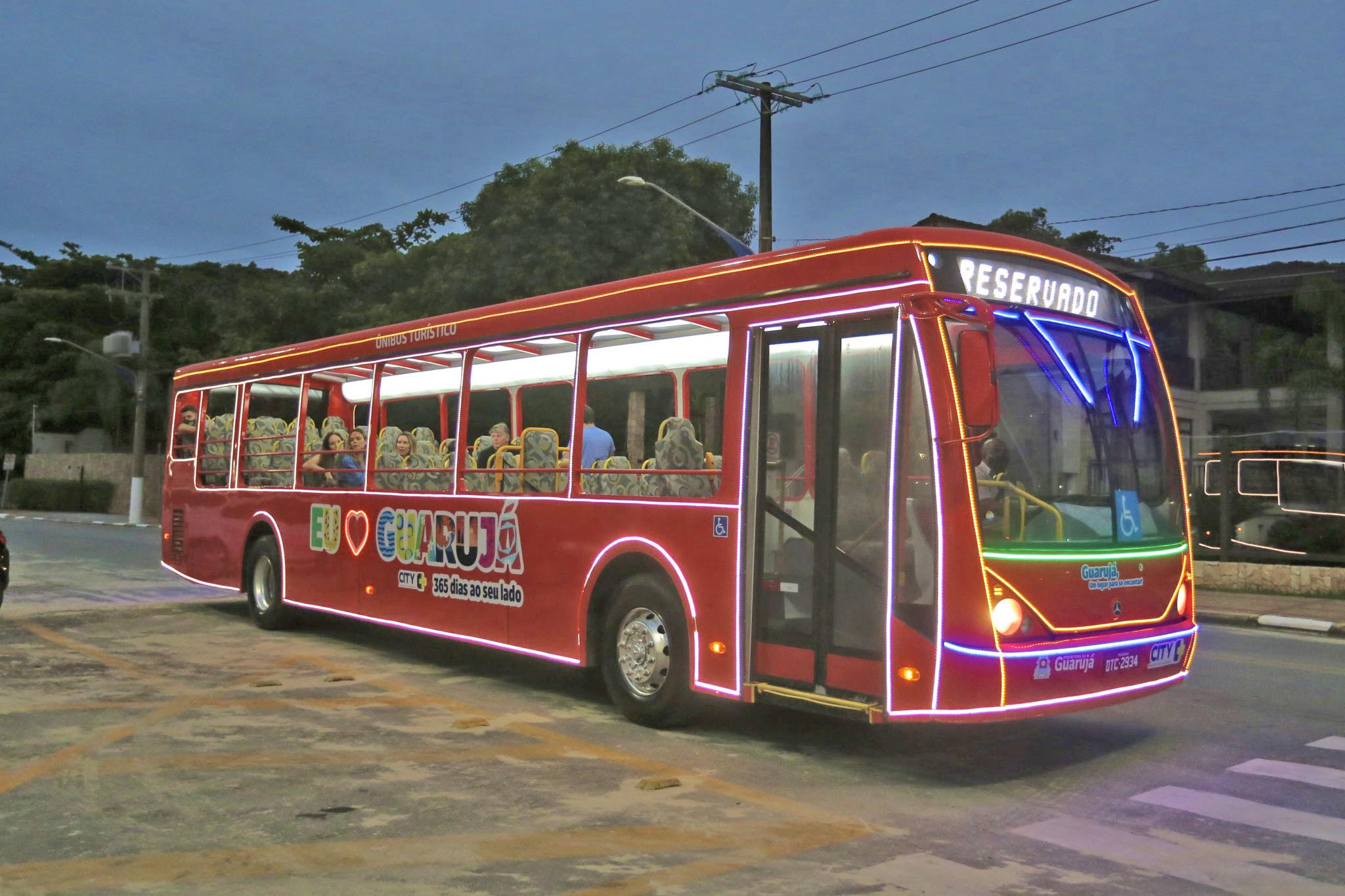 SP: Ônibus turístico de Guarujá inicia passeios neste sábado
