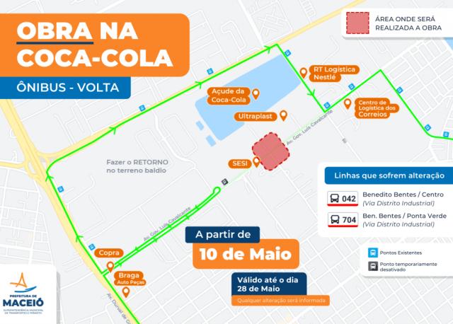 Maceió: Obras interditam trânsito e altera linhas de ônibus no Distrito Industrial - revistadoonibus