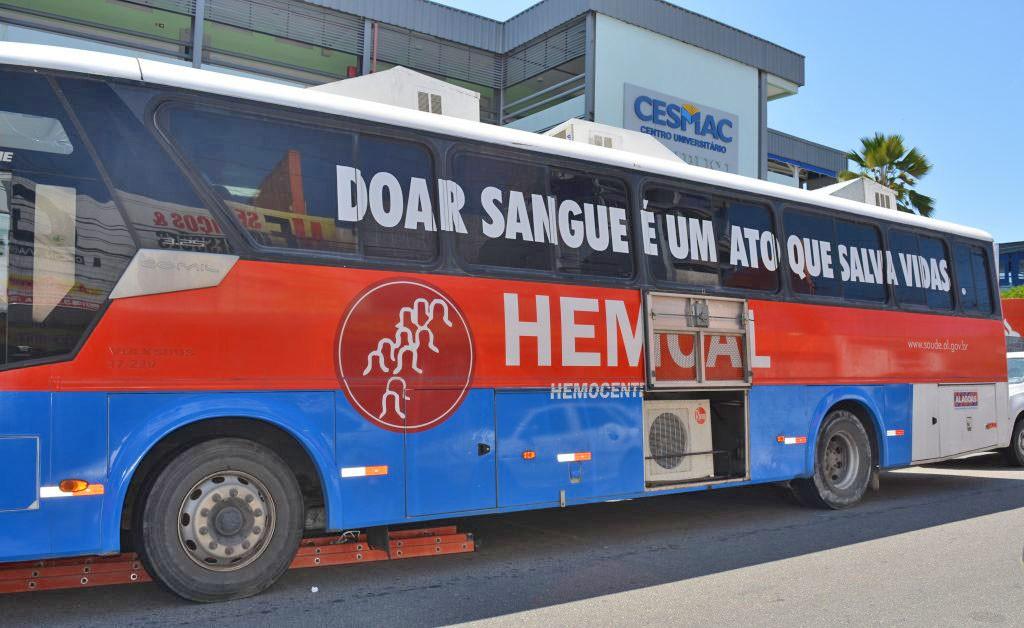 AL: Ônibus do Hemoal faz coleta de sangue em Pão de Açúcar nesta quarta-feira