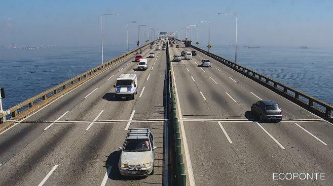 Ponte Rio x Niterói segue com fluxo bom nos dois sentidos nesta manhã