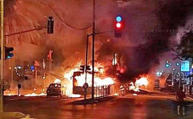 Vídeo: Hamas ataca região de Tel Aviv com foguetes e destrói prédios e ônibus