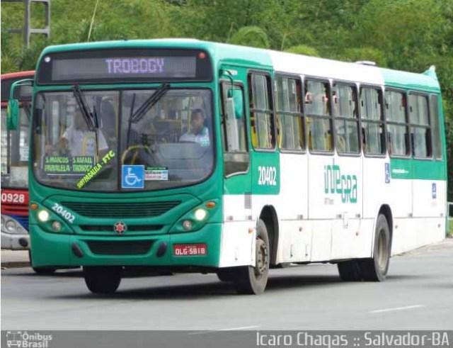 Salvador: Ônibus da OT Trans pega fogo na Estrada das Barreiras - revistadoonibus